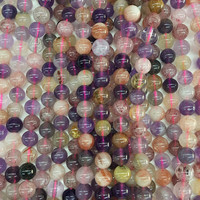 4 8MM 1Strand Pack 100 Pure Natural Semi Precious Mix Quartzs Stone Loose Strands Bead Jewelry