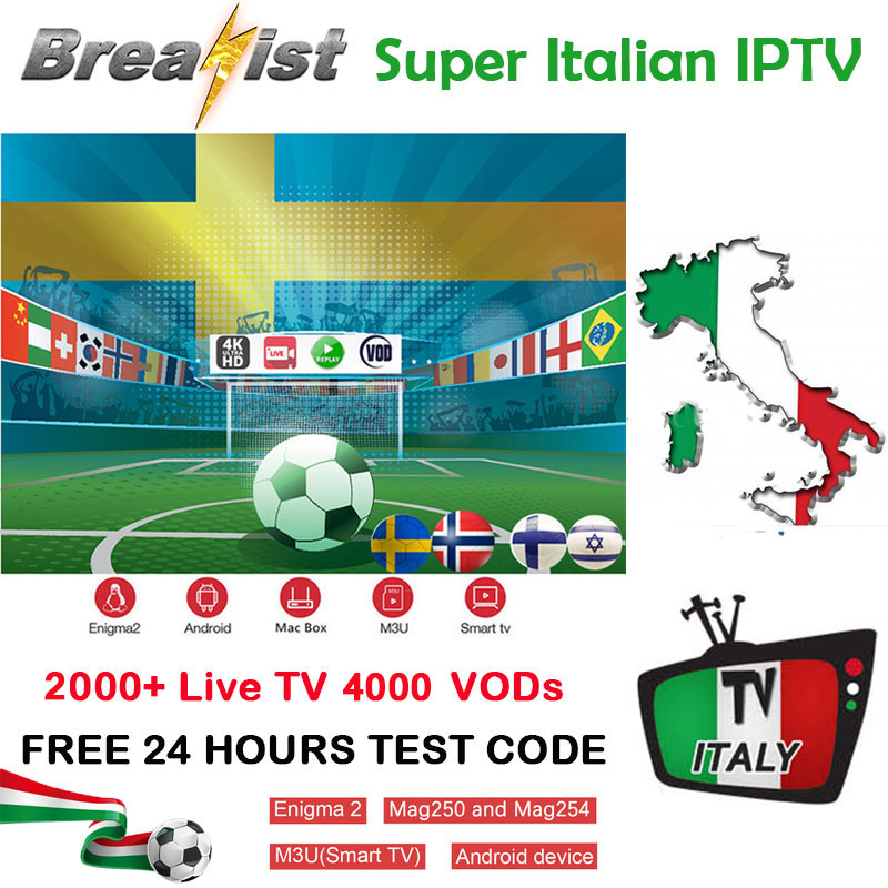 Italia IPTV For1 Year Support Spainish German Italy Subscription M3u Android Tv Box Enigma2 Smart TV VLC With HOT VOD Pk H96max