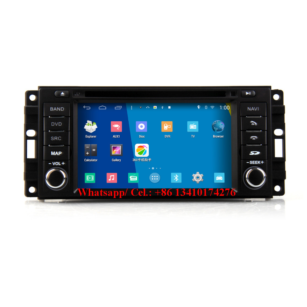 android car audio dvd system for dodge ram 1500 Chrysler Sebring Jeep Commander Compass  car multimedia gps navigation system