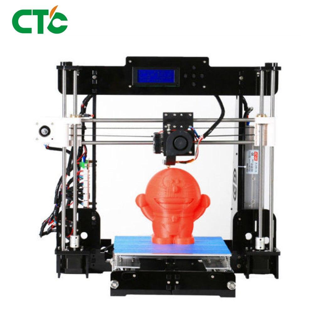 2018 Printer 3d A8 Acrylic High Precision Reprap i3 DIY Kit & LCD2004 & 10m PLA 3D Drucker цена и фото