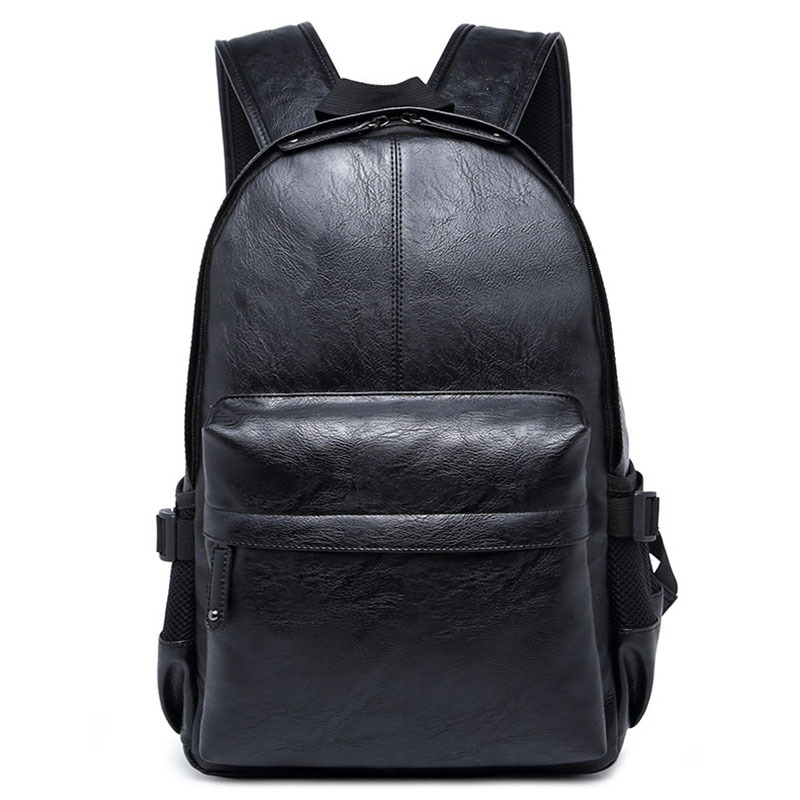 ETONWEAG New 2017 women brands Italian leather black zipper preppy style laptop backpacks vintage travel bags