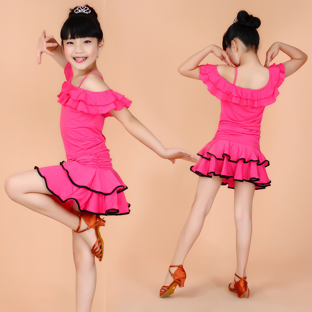 b2e54541fa33 105 165 cm Childrens Fancy Dress Latin Dance Dress 5 Colors Latin ...
