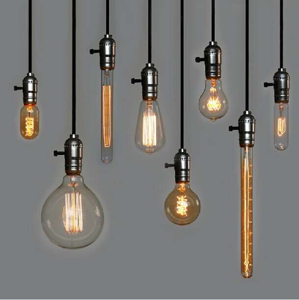 Retro Incandescent Vintage Light Bulb St64 T45 Diy Handmade Edison Fixtures E27 220v 40w Lamp Bulbs For Pendant Lamps In Lights From