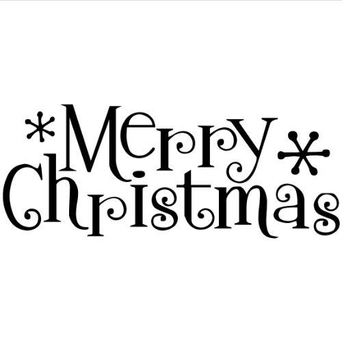 Merry Christmas Wall Saying Vinyl Lettering Home Decor Decal Stickers Quotes ...