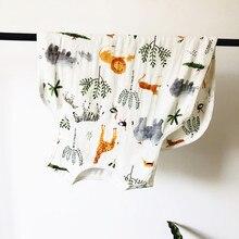 Спальный мешок без рукавов из бамбука и 30% хлопка для новорожденных 0-7 лет, теплый детский спальный мешок из муслина с рисунком медведя из мультфильма, с рисунком, S2