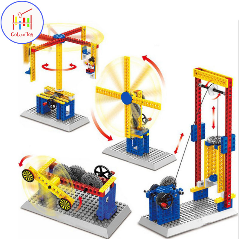 Kids Boy Toy DIY Construction Engineering Model Teaching Mechanical Group Building Blocks Children Early Education Gift