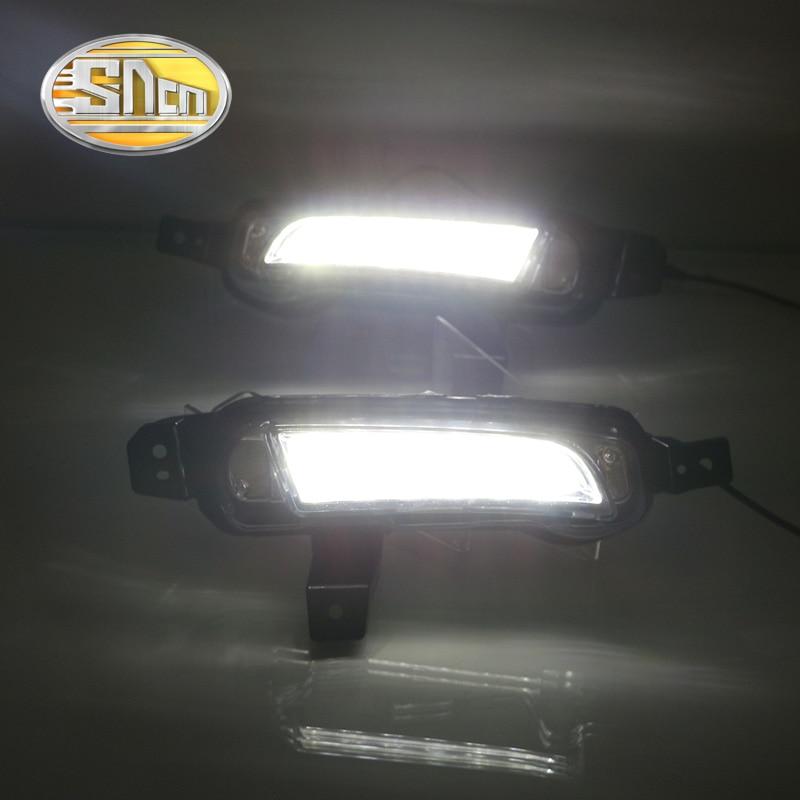 SNCN Yellow Turning Function Relay Car Accessories Auto Daylight LED Daytime Running Light LED DRL For Suzuki Vitara 2015 2016