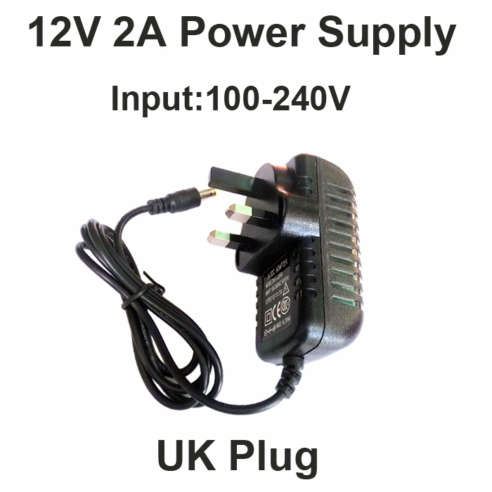 Hot 12V2A good quality Power supply adapter UK plug for CCTV camera IP camera and DVR,AC100-240V to DC12V2A Converter Adapter security uk us eu au 12 volt 1 amp power supply power adapter for cctv ir infrared night vision lamp dvr systems camera