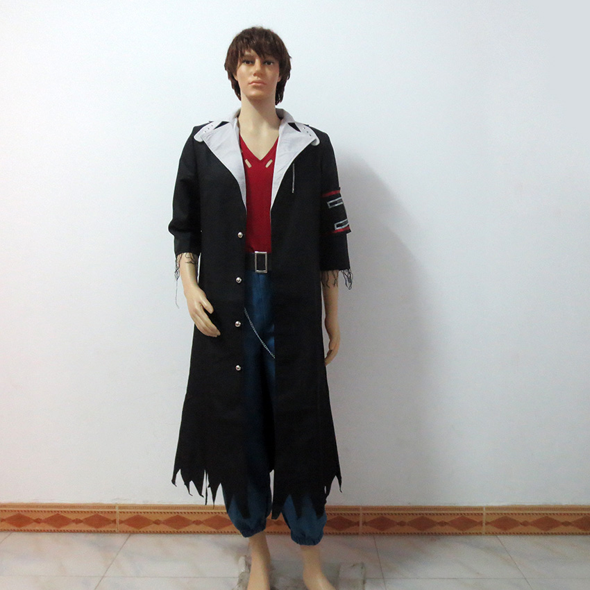 Final Fantasy XIII-2 Snow Villiers Christmas Party Halloween Uniform Outfit Cosplay Costume Customize Any Size