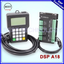 Free Shipping! RichAuto DSP A18 4 axis controller Original A18 English Version Used for CNC