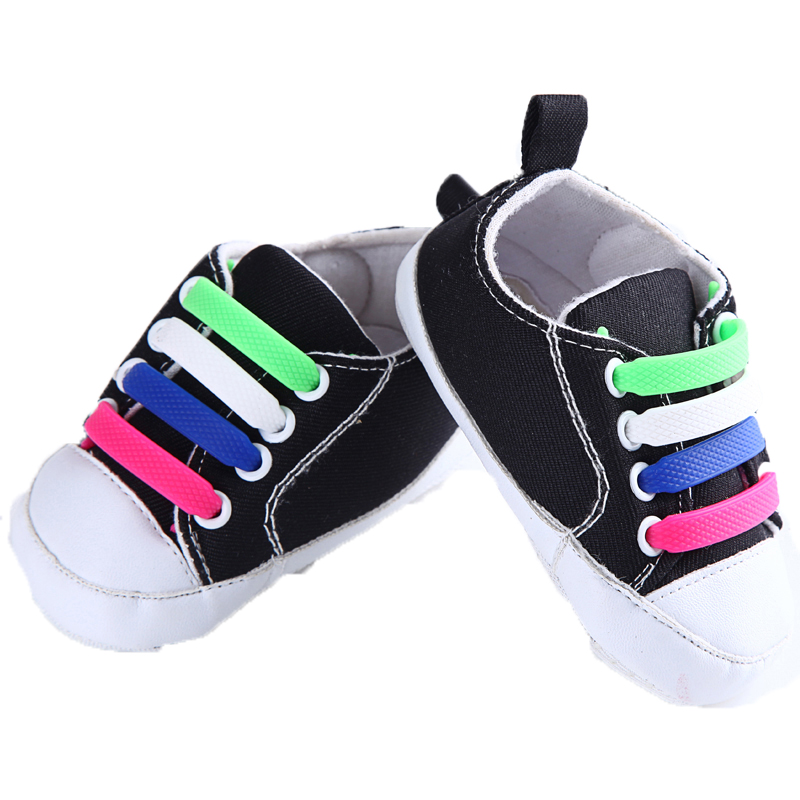 Elastic Shoe laces Silicone No tie Shoelaces Fashion Athletic Running Shoe lace for Kids Unisex Sneakers 12pcs/lot Coolnice