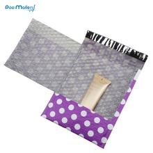 10pcs #0 Poly Bubble Mailers 6*9 Inch/175*230mm Envelopes Purple spots design Lined Mailer