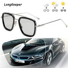 Longkeeper Luxury Brand Vintage Photochromic Sunglasses Men Iron Man Women Driving Glasses UV400 Goggles Gafas de sol
