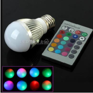 [ E27 RGB LED Lamp ] 9W AC 220v 110v  led Bulb Lamp with Remote Control multiple colour led lighting cree bulbs light