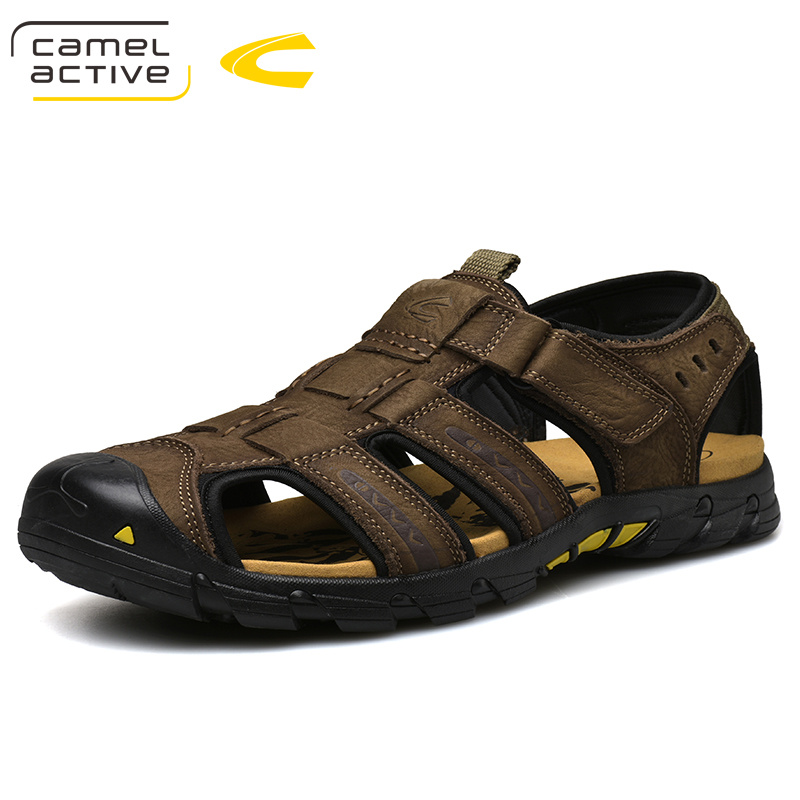 Camel Active 2019 New High Quality Summer Men Sandals Genuine Leather Comfortable Men Cow Leather Shoes Fashion Casual Shoes
