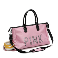 Pink Womens Travel Bags Handbags Vs Overnight Shoulder Bag Large Capacity Fashion Luggage Travel Duffel Folding Package Hot Sale