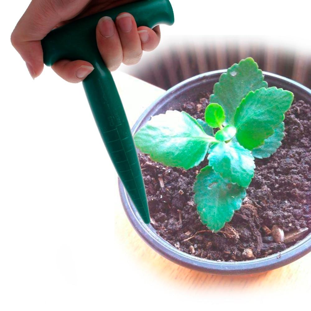 17.5x11 cm di Plastica Dibber Scavo Strumento Foro Giardino Bonsai Fiore Piantare Diserbo Piantina di Colore Verde 5A50066