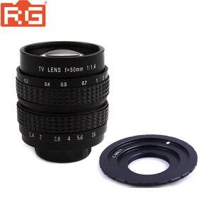 Image 1 - Fujian lente de película de 50mm F1.4 CCTV + C M4/3 montaje a Micro 4/3 m4/3 EPL5 EPM3 EPL7 OM D para Panasonic Olympus