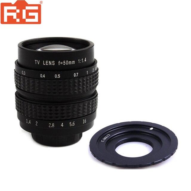 Fujian lente de película de 50mm F1.4 CCTV + C M4/3 montaje a Micro 4/3 m4/3 EPL5 EPM3 EPL7 OM D para Panasonic Olympus