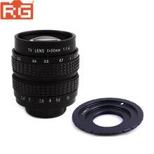 Lente do filme fujian, 50mm f1.4 cctv + C M4/3 montagem para micro 4/3 m4/3 epl5 epm3 epl7 OM D para panasonic olympus