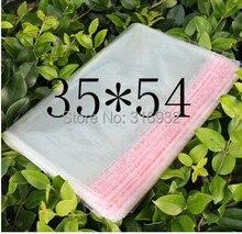 クリア再封可能なセロハン/ボップ/ポリpvcビッグ35*54センチメートル透明オップ袋包装ビニール袋自己粘着シール35*54センチメートル