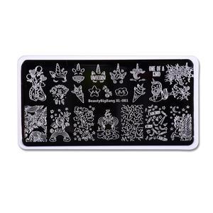 Image 5 - Beautybigbang 6*12CM Stamping Plates XL 081 Cloud Star Cute Unicorn Pattern Nail Art Stamping Plate Printing Image