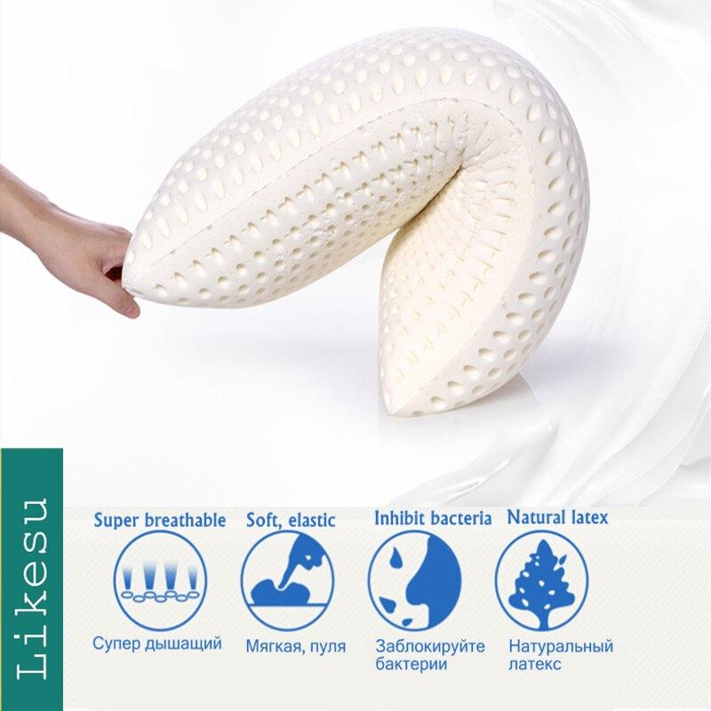 Ausverkauf Reise Kissen Anti-falten kissen Große, weiche, elastische-100% Natürliche Talalay latex kissen