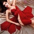 Mulheres sexy camisola vestido sono rendas wellmade softy material vermelho roxo preto cor da moda para as mulheres