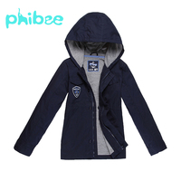 Phibee Boys Autumn Spring Baby Jacket Hooded Windbreaker Soft Shell Casual Kids Clothes