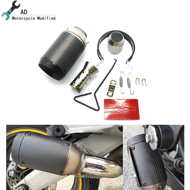 Universal 51 mm Motorcycle Exhaust Pipe For kawasaki ZZR600 ER-6N ER-6F Z800 Z1000 Z750 ZX10R Z900 ZX6R Z1000SX Z650 Accessories hot sale motorcycle accessories rear brake reservoir cover gold for kawasaki z250 z750 z800 z1000 z1000sx
