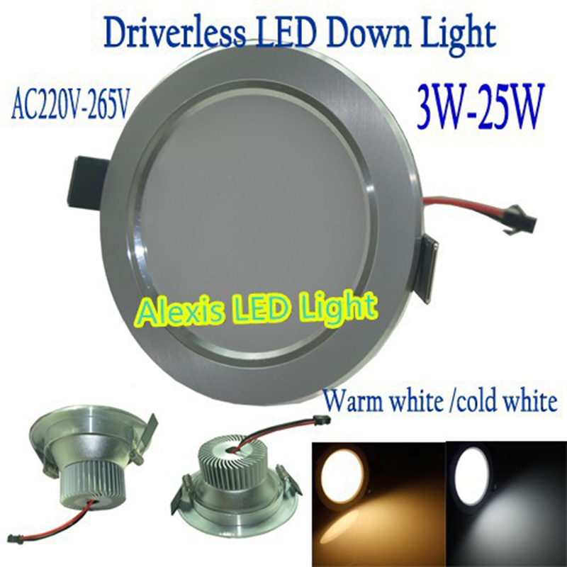 2015 New Dimmable driverless LED down light 3w 5w 7w 9w 12w 15w 18w AC220-265V LED Ceiling Light,SMD Driverless LED pcb Light