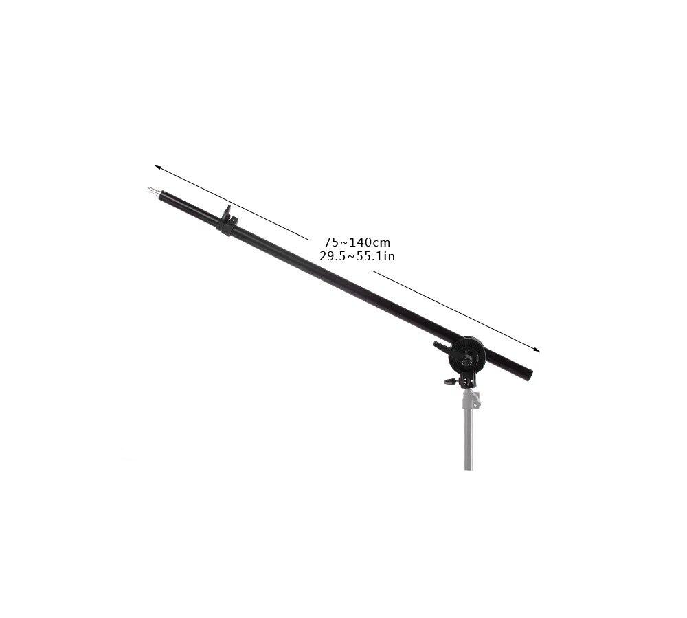 מחשבי כף יד   GPS בום למעלה אור טלסקופיים 78-138cm Selens זרוע w / משקל תיק Sandbag עבור פלאש וידאו אור E27 סטודיו softbox (2)
