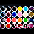 24 PCS Color UV Gel Tranperant Mix Color Nail Gel UV Glitter Builder Acrylic Set for Nail Art Color UV Gel Nail Art Paint UV Gel