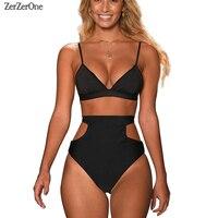 High Waist Swimsuit 2018 Bikini Women Swimwear Halter Sexy Brazilian Bikinis Set Beach Wear Bathing Suits
