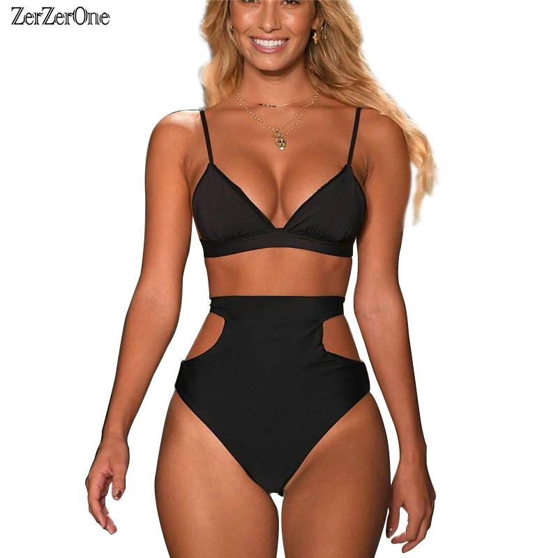 High Waist Swimsuit 2018 Bikini Women Swimwear Halter Sexy Brazilian Bikinis Set Beach Wear Bathing Suits Plus Size Swimwear XXL sexy bikini women swimsuit push up bikini set beach wear high waist bathing suits halter top plus size swimwear 3xl