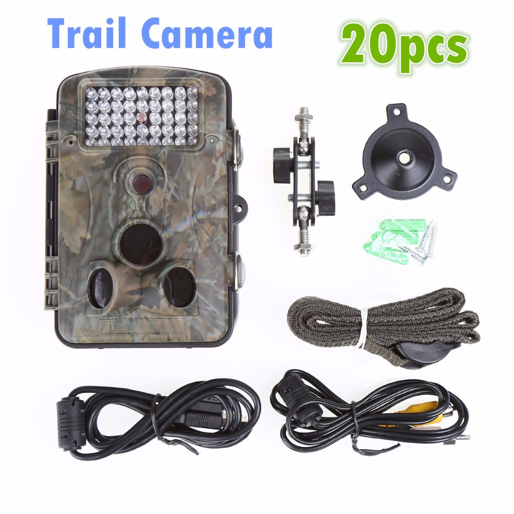 whosale 20pcs orchard camera trail camera outdoor waterproof 5MP HD recorder with screen PIR Alarm orchard