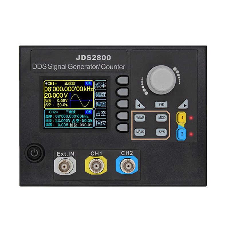 Jds2800 15Mhz double canal Dds fonction générateur de Signal Ac100-240V générateur de Signal de forme d'onde arbitraire avec Signal logiciel S