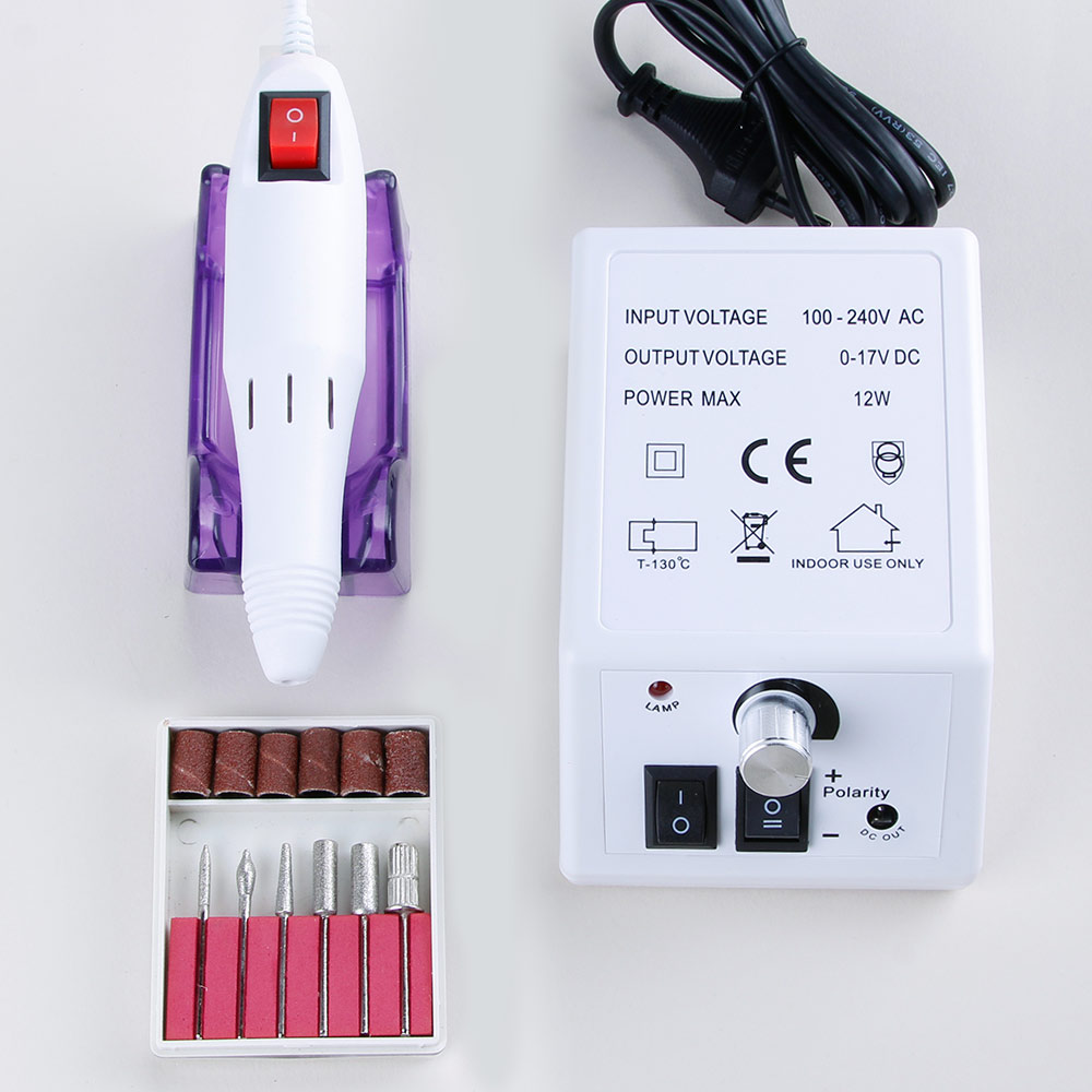 20000rpm 12w elétrica máquina de broca do prego para manicure e pedicure máquina de trituração de broca pregos equipamento conjunto de arquivo de unhas elétrica