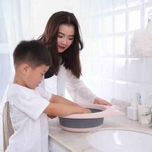 1PC Outdoor Folding Wash Basin Versatile Portable Collapsible Silicone Washbasin Bathroom Accessories Travel Home
