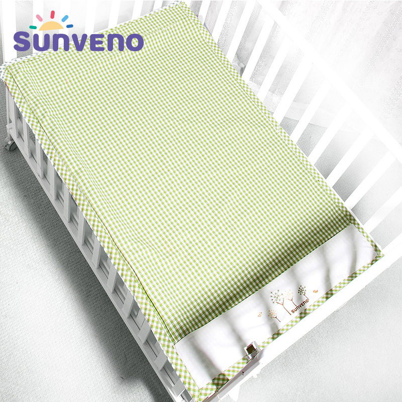 SUNVENO Summer Sleeping Mat Cotton 3-layer Design Breathable Baby Cot Sheets Children Crib Bed Sheets for Newborn <font><b>120*70</b></font> image