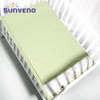SUNVENO Summer Sleeping Mat Cotton 3 layer Design Breathable Baby Cot Sheets Children Crib Bed Sheets for Newborn 120*70