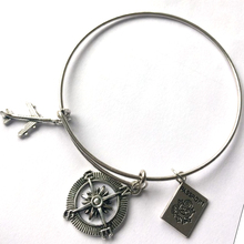 New Fashion Antique Silver Color Airplane Bangle For Women  Jewelry Wholesale 9196