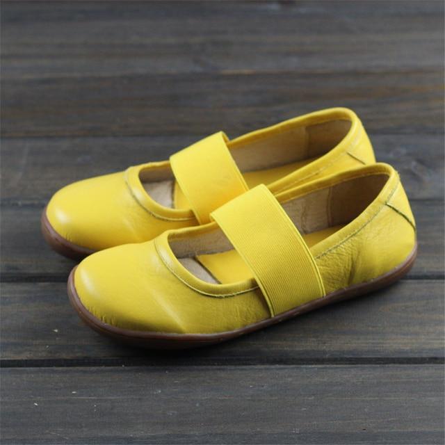 Zapatos planos de cuero genuino para mujer, zapatos informales oxford planos, calzado femenino, novedad primavera 2020, amarillo y negro