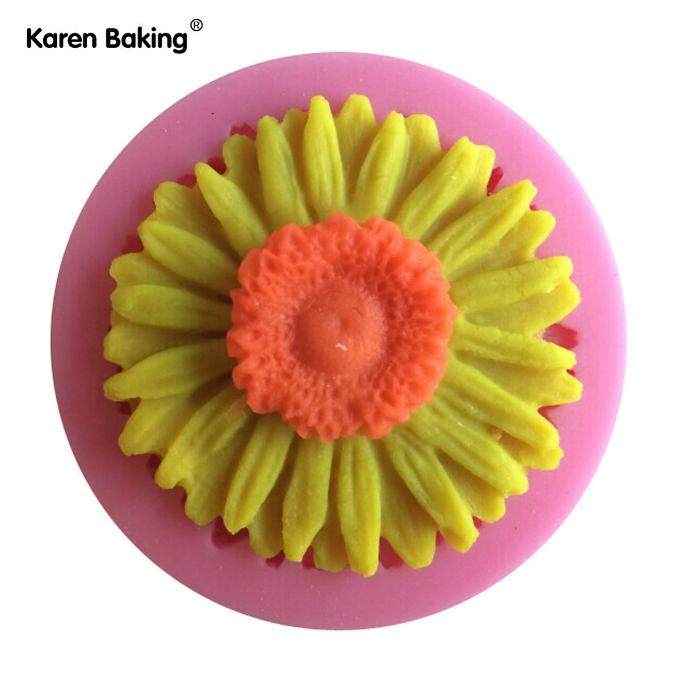 beautiful sun flower cake mold silicone baking tools kitchen accessories decorations for cakes