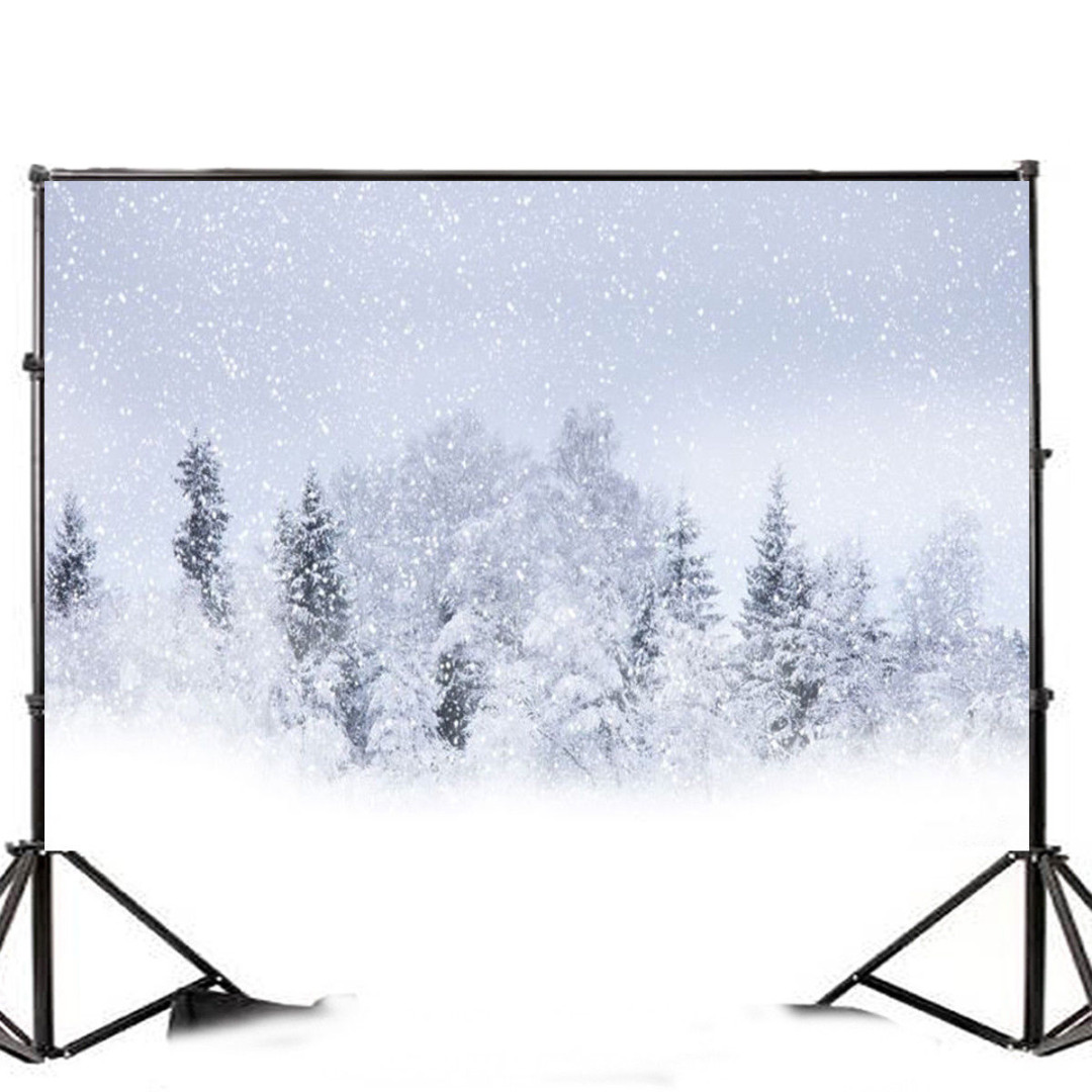 Mayitr 7x5FT Christmas Snow Ice Forest Photographic Background Vinyl Backdrop For Studio Photo Props For Photography Party Bar christmas photographic background snow snow in winter new year photo vinyl cloth year of the rooster