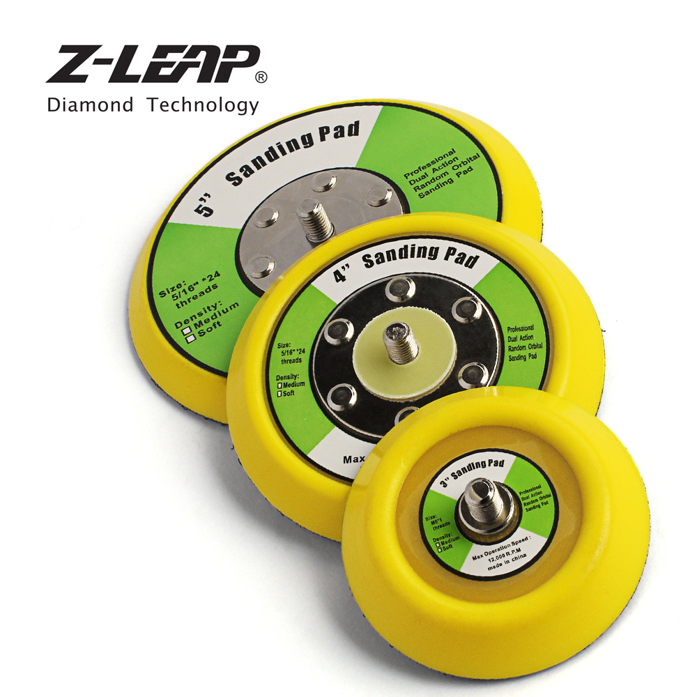 Z-LEAP 2pieces 3inch/4inch/5inch Backer Plate Pad For Car Polisher Dual Action Polishing Tool Hook & Loop Backer Pads 5/16