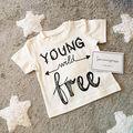2016 Verão Carta Estilo Impresso Yong Livre Algodão de Manga Curta Camiseta T Roupas para o Menino Crianças t
