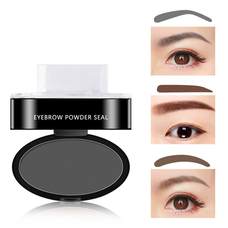 Beauty Essentials Eyebrow Enhancers Lazy Quick Eyebrow Stamp Seal Tint Waterproof Long Lasting Eyes Brow Shadows Set Natural Shape Punch For Eyebrows Powder Palette