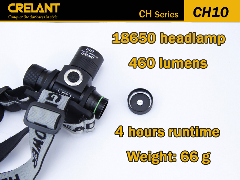 ФОТО CRELANT CH10 Cree XM-L2 460 Lum Led Headlamp Stepless Dimming Tactical Defense Flashlight 18650 Outdoor Lighting Camping Lantern