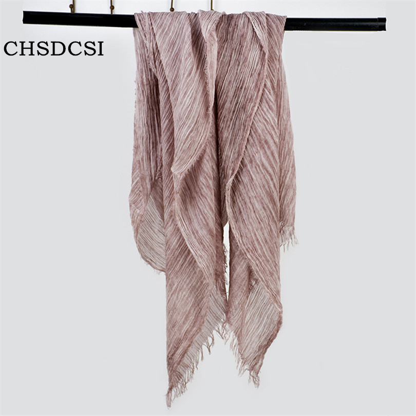 Multicolor High Quality Cotton And Linen Scarf Shawl And Female Literary Pure Color Linen Scarves Free Shipping 190*85cm J056